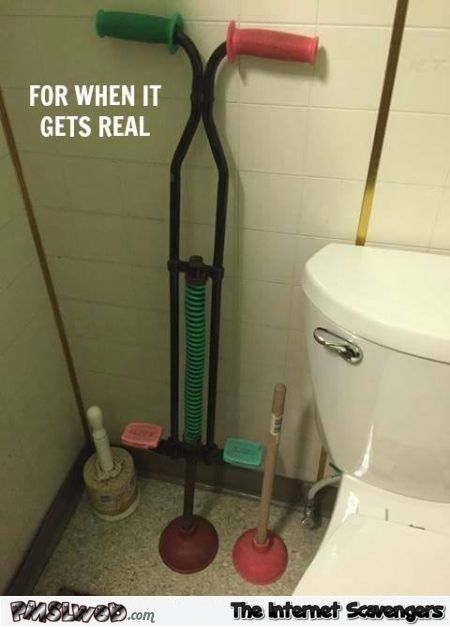 toilet plunger gets real. Black Bedroom Furniture Sets. Home Design Ideas